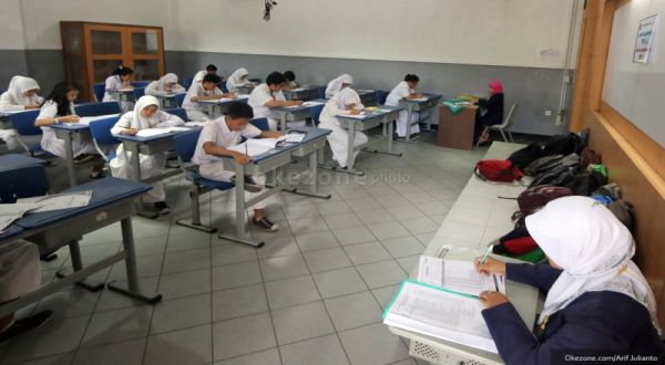 Suasana ujian nasional. (Foto: Arif Julianto/Okezone)