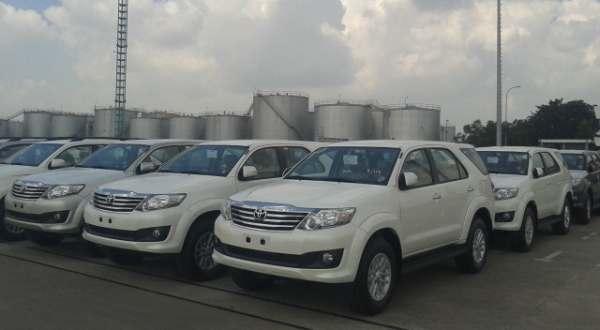F: Ekspor Toyota Fortuner (Arief A/Okezone)