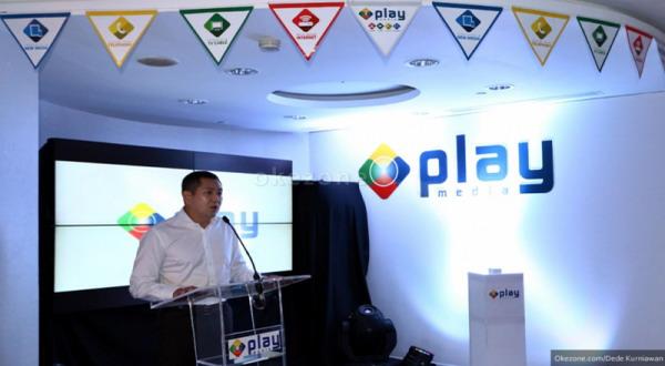 CEO MNC Group Hary Tanoesoedibjo saat meresmikan MNC Play Media (foto: Okezone)