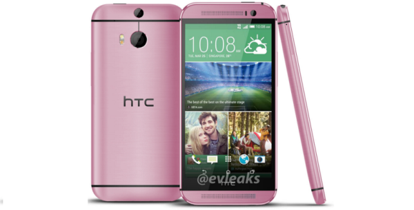 HTC One pink.