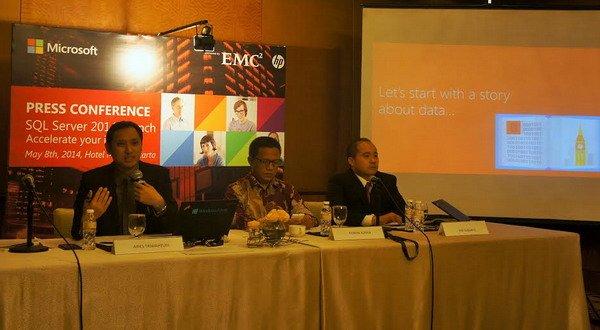 Peluncuran Microsoft SQL Server 2014 (foto: Okezone)
