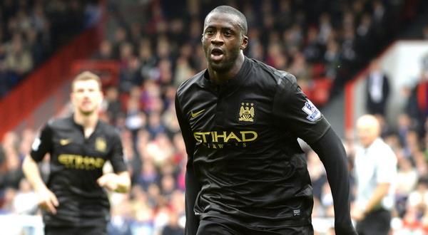 Selebrasi Yaya Toure setelah menjebol gawang Crystal Palace (Foto: REUTERS/Toby Melville)