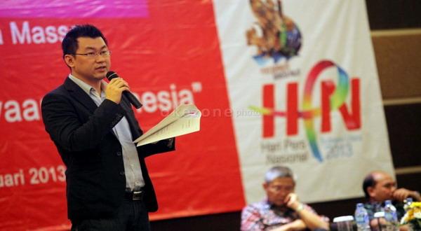 Ronny Sugiadha, Direktur Marketing Okezone.com menjadi salah satu pembicara di Stream 2014 (foto: Okezone)
