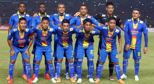 Skuad Arema yang gagal berbicara banyak di AFC Cup. (Foto: Ramadhan Adiputra/SINDO)