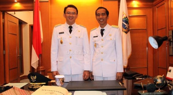 Jokowi saat dilantik sebagai Gubernur DKI Jakarta (Foto: Dok Okezone)