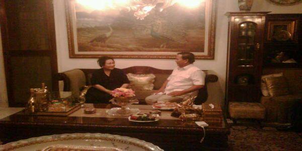 Pertemuan Prabowo dengan Rachmawati Soekarnoputri (Foto: Fadhli/Okezone)