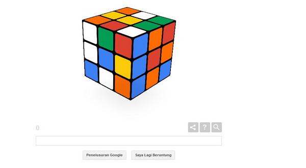 Google Doodle Tampilkan Permainan Kubus Rubik