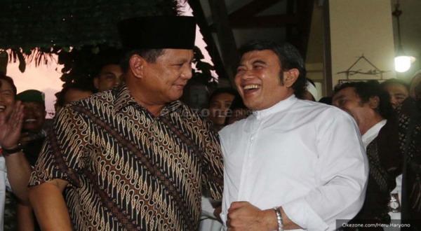 Prabowo saat bertemu Rhoma Irama (foto: Heru Haryono)