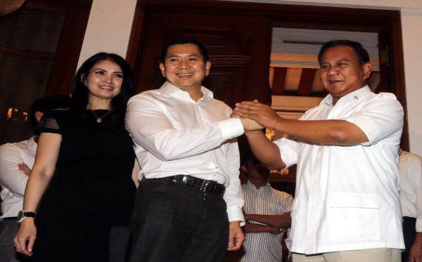 Prabowo dan Hary Tanoesoedibjo (Foto: Heru Haryono/Okezone)