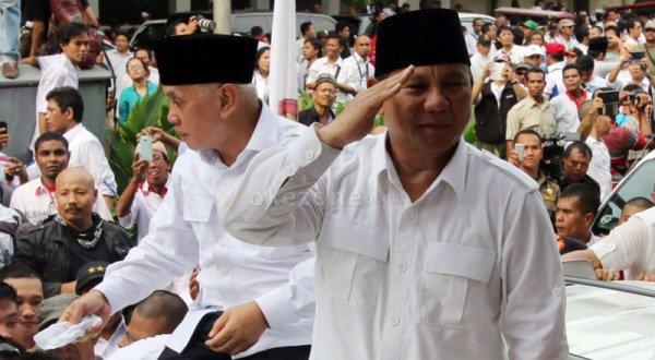 Prabowo Subianto-Hatta Rajasa (Foto: Runi Sari/Okezone)