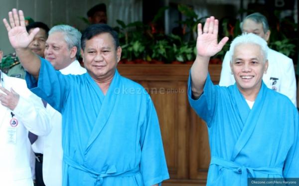 Prabowo-Hatta saat menjalani tes kesehatan (Foto: Heru H/okezone)