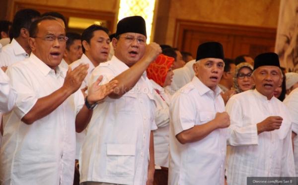 foto Prabowo Subianto dan Hatta Rajasa (dok: Okezone)