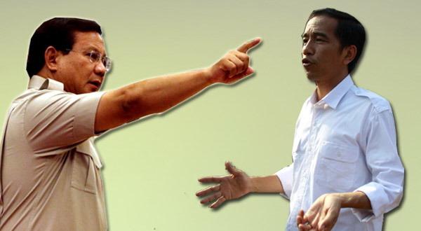 Prabowo Subianto dan Joko Widodo (foto: Okezone)