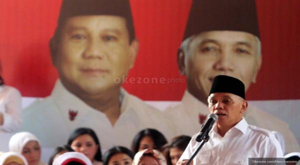 Hatta saat menghadiri deklarasi perempuan untuk Prabowo-Hatta (foto: Heru Haryono)