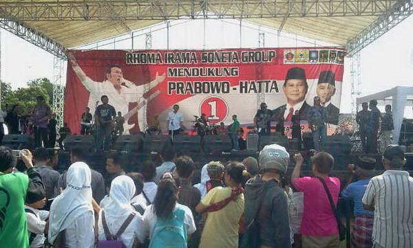 Rhoma Irama Genjot Suara Prabowo-Hatta di Madura