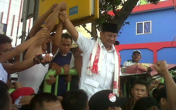 Prabowo Gerilya ke Pasar Tanah Abang