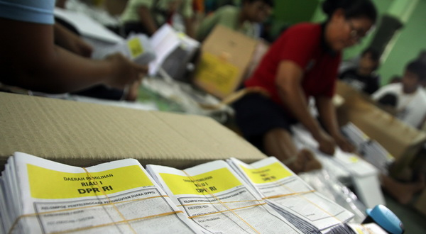 Sejumlah Surat Suara di KPU Ponorogo Sudah Tercoblos