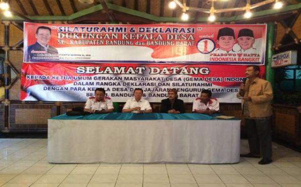 Asosiasi Kepala Desa Kampanye di Bandung Dukung Prabowo-Hatta