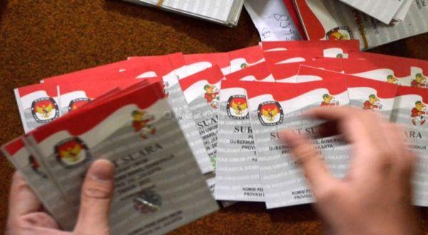 800 Surat Suara Pilpres di Jakarta Barat Rusak