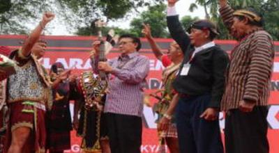 Masyarakat Adat Kalimantan Gerilya Menangkan Jokowi