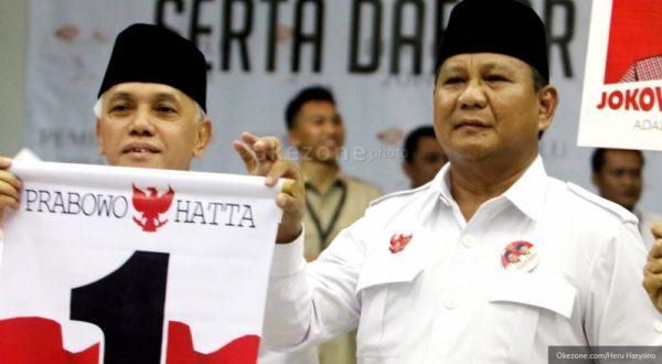 Jelang Pencoblosan, Prabowo-Hatta Tetap Unggul di Survei