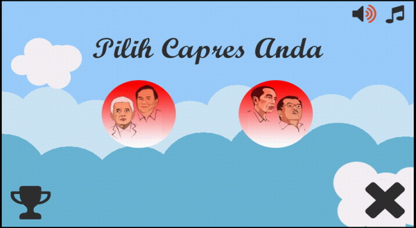 Game Adu Kuat Capres Prabowo vs Jokowi