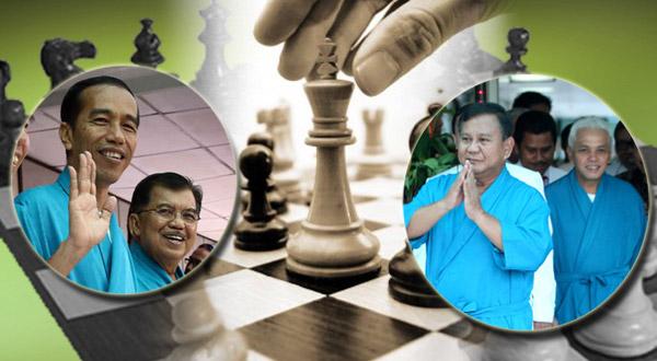 Prabowo-Hatta & Jokowi-JK. (Foto: Okezone)