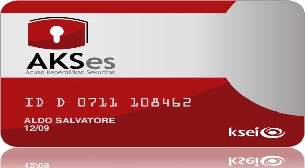 Kartu AKSes. (Foto: Situs KSEI)
