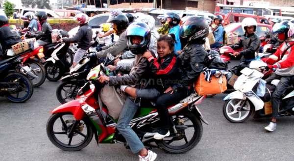 Jelang musim mudik, pemerintah harus perketat peraturan mudik pakai motor (Ilustrasi: Okezone)