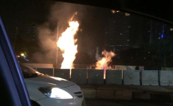 Imbas Ledakan Pipa Gas, 40 Pelanggan Tak Bisa Dialiri Gas (Foto: TMC Polda Metro Jaya)