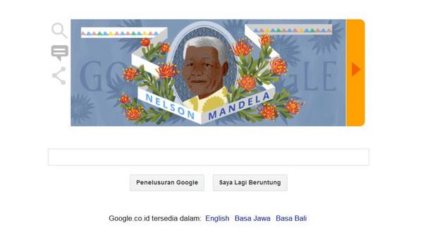 Google Doodle Rayakan Ultah Nelson Mandela