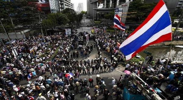 Kerusuhan di Thailand. (Foto: Reuters)
