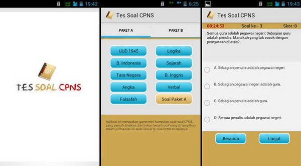 Aplikasi Tes CPNS Beredar di Android