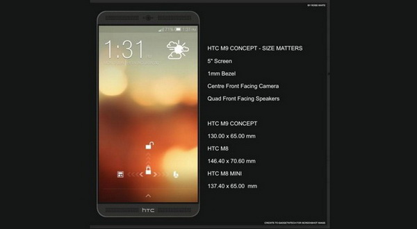 HTC M9 Miliki Empat Buah Speaker