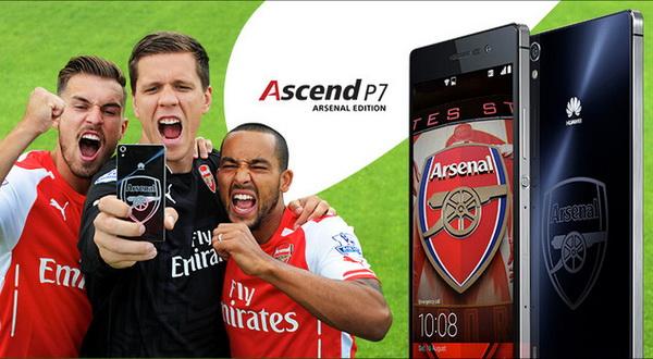 Huawei Ungkap Smartphone Ascend P7 Edisi Arsenal