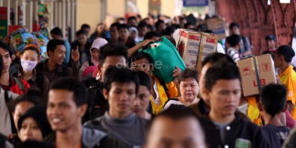 Pos Indonesia lepas 1.268 pemudik (Foto: Okezone)