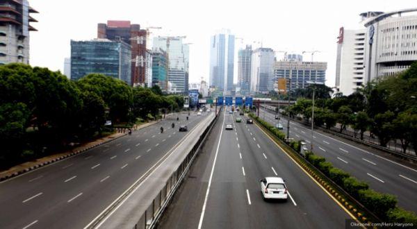 Jalan Protokol di Jakarta Masih Lengang