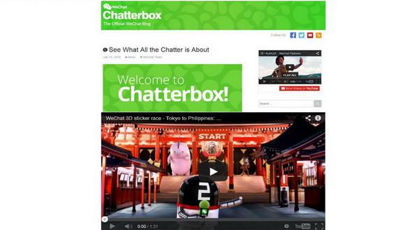 WeChat Perkenalkan Blog Resminya 'Chatterbox'