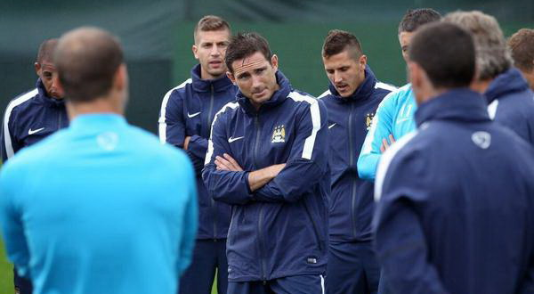 Frank Lampard yang memulai latihan bersama Manchester City (Foto: Twitter)