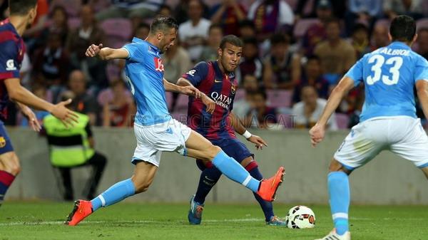Laga Barcelona vs Napoli (Foto: FcBarcelona.com)