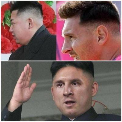 Gaya Rambut Lionel Messi vs Kim Jong-Un