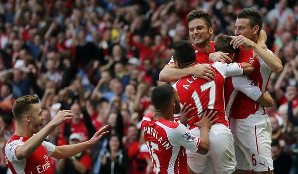 Para pemain Arsenal. (Foto: Reuters)