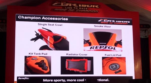 F: Pilihan aksesoris untuk All New Honda CBR150R (Septian P / Okezone)