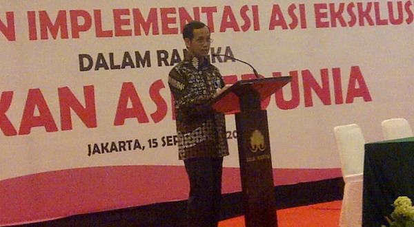 Pemberian ASI Eksklusif di Indonesia Menurun