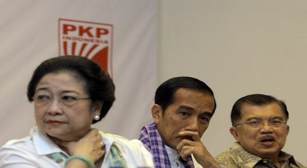 Didampingi Jokowi-JK, Mega Buka Rakernas PDIP