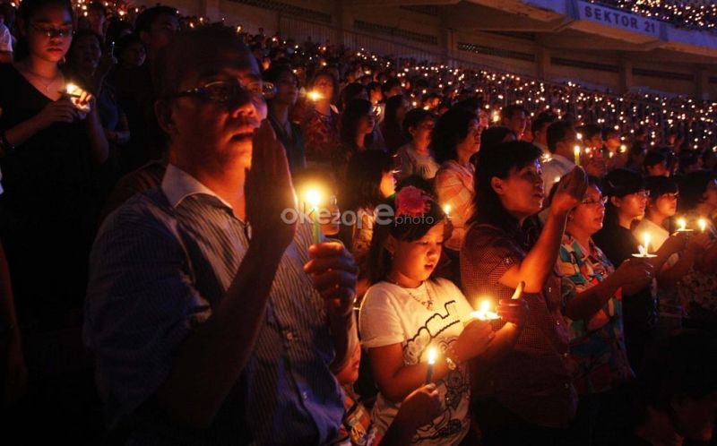 HKBP Pasar Rebo merayakan Natal bersama ratusan murid sekolah Minggu
