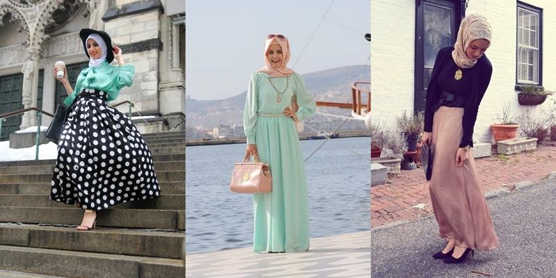 Padu Padan Maxi Dress Untuk Hijabers Okezone Lifestyle