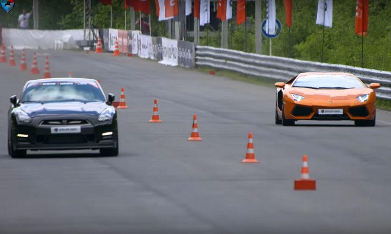 Lamborghini Aventador Vs Nissan Gt R Di Trek Lurus Siapa Yang