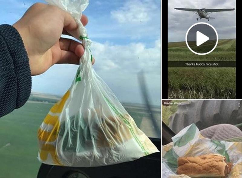 https: img.okeinfo.net content 2017 08 28 298 1764709 tepuk-tangan-pria-ini-berikan-sandwich-kepada-sahabatnya-dari-atas-pesawat-SLgpNXBVYg.jpg