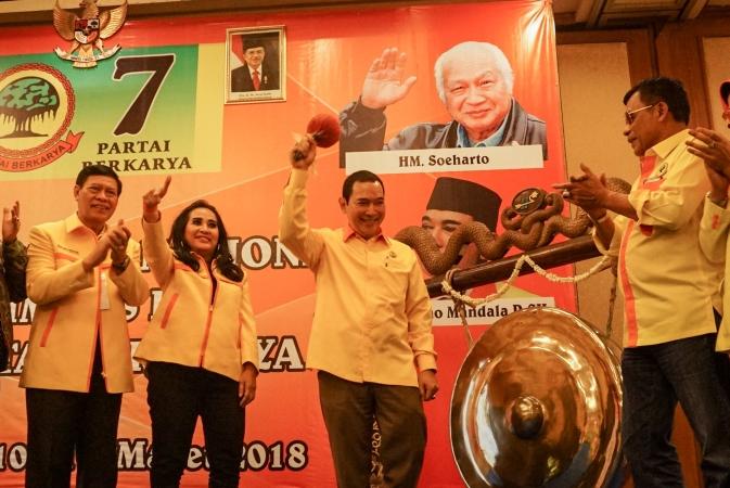Rapimnas Partai Berkarya. (Foto: Antara)